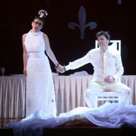 Puccini's Gianni Schicchi. Galina Koroleva as Lauretta, Nurlan Bekmukhambetov as Rinuccio. Photo by Alexander Sternin