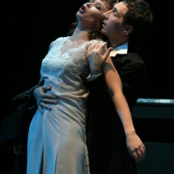 Verdi's La Traviata. Galina Koroleva as Violetta, Dmitry Pianov as Alfredo. Photo by Alexander Sternin