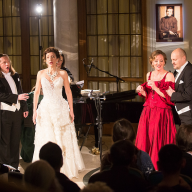 Concert dedicated to the 70th anniversary of Evgeny Kolobov's birth. Andjey Beletsky, Olga Ionova, Irina Romishevskaya, Alexander Bogdanov Piano – Ekaterina Maklyarskaya. The Epiphany Festival at Novaya Opera January 19, 2016. Photo by Daniil Kochetkov.