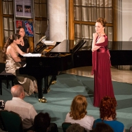 Alexandra Saulskaya-Shulyatieva. Piano Ekaterina Maklyarskaya. Russian Vocal Music. Soirees in the Mirror Foyer on 17 May 2013. Photo by Daniil Kochetkov
