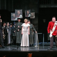 Verdi's Nabucco. Andjey Beletsky as Nabucco, Tatyana Tabachuk as Fenena, Aleksey Antonov as Zaccaria, Natalya Darenskikh as Anna. Photo by Alexander Sternin